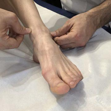 Ostéopathe, cheville et pied